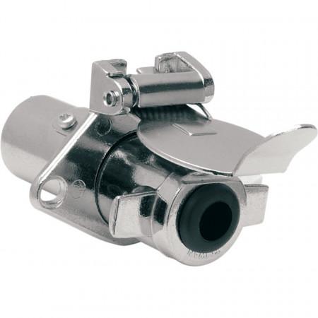Krómozott utánfutó csatlakoztató dugó és konnektor (5 vezetékes) kép