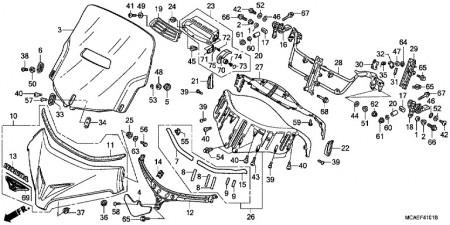 Eredeti Honda gyári szélvédő plexi, szellőztethető GL1800 2012-2017 kép