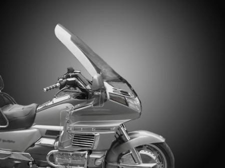 Nagyméretű, füstszínű szellőztethető túraplexi GL1500 kép