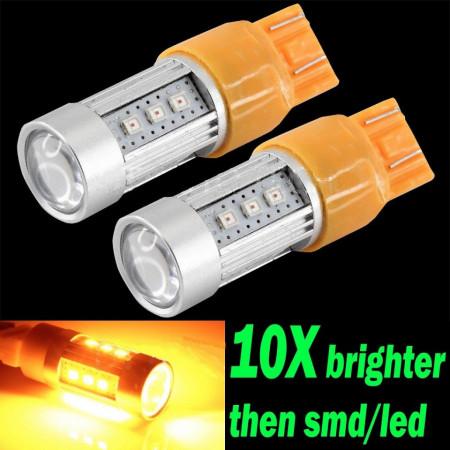 LED-es irányjelző izzó (sárga fényű, High Power) kép