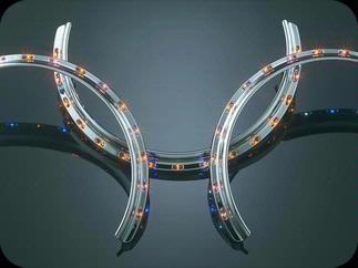 LED világításos krómozott gyűrű féktárcsaborításra (narancssárga) kép