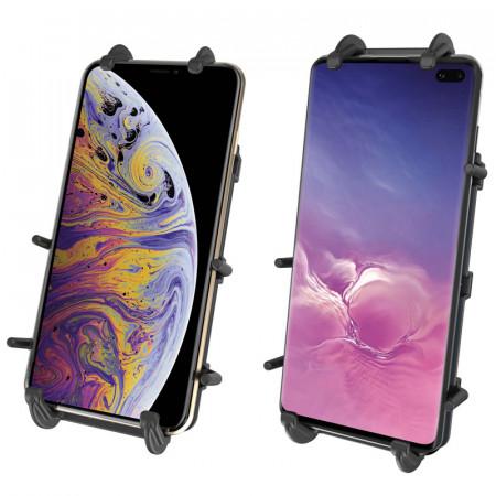 """RAM® rugós bölcső XL méretű mobiltelefonokhoz 1""""-os gumírozott golyóval kép"""