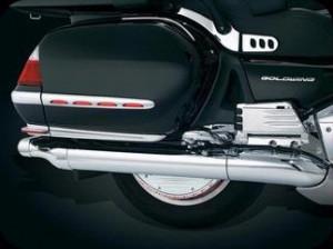 Krómozott féktárcsaborítás hátsó kerékre LED-es világítással