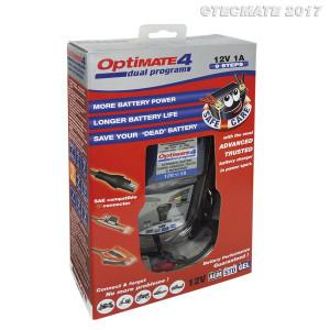 OptiMate 4 Dual Program akkumulátor karbantartó és töltő