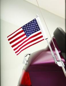 Antennára szerelhető zászlótartó