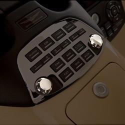 Krómozott rádió gombok