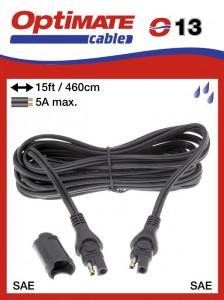 Töltő hosszabbító kábel OptiMate-hez (SAE, 4,6m)