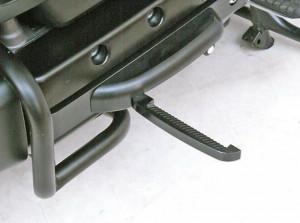 Fekete kihajtható lábtartó GL1800-asokhoz