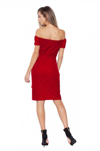 Rochie din catifea cu cordon