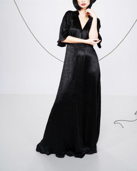 Rochie maxi cu aplicatii din paiete