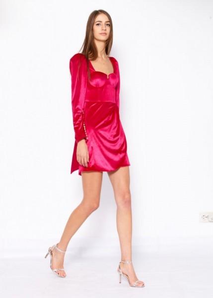 Rochie cu cupe din catifea elastica