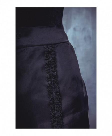 Pantaloni din organza de matase