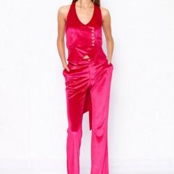 Pantalon din catifea elastica