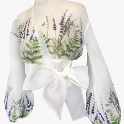 Camasa din organza cu imprimeu floral