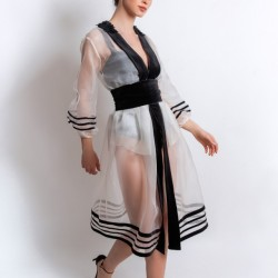 Rochie kimono din matase