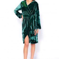Kimono dress with sequin applique