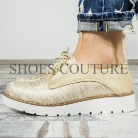 Poze Smart/Casual Gold Shoes,Cod:721-33 Gold