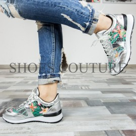 Poze Silver Stras Sneakers,Cod:KP5507-AG Silver