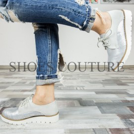 Poze Smart/Casual Silver Shoes.Cod:721-33 Grey