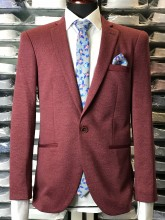 Sacou Barbati, Slim Fit,Bordo, Ucu Dima, Cod:P333 Bordo