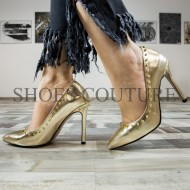 Pantofi Stiletto 01-2017 Golden Shine