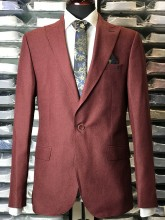 Sacou Barbati, Slim Fit,Bordo, Ucu Dima, Cod:2001-3 Bordo