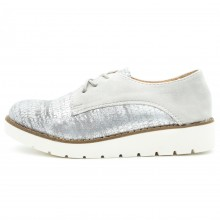 Smart/Casual Silver Shoes.Cod:721-33 Grey