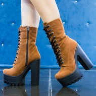 Botine dama Brown Suede,Cod:Cor.535 Brown Suede