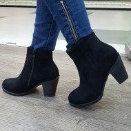 Botine dama negre simple cu toc mic,Cod:CHERLY-5 Black