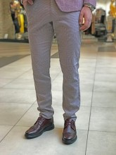 Pantaloni barbati ,Bordo, Slim Fit , Ucu Dima, Cod:001/2018 Bordo