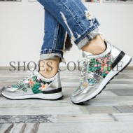 Silver Stras Sneakers