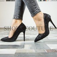 Pantofi Stiletto Full Glitter ,Cod:02-2017 Black