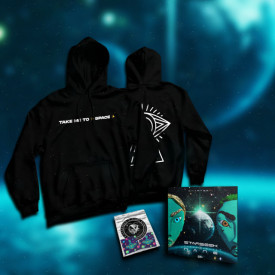 "Pack hanorac + album + stickere ""TAKE ME TO SPACE"""