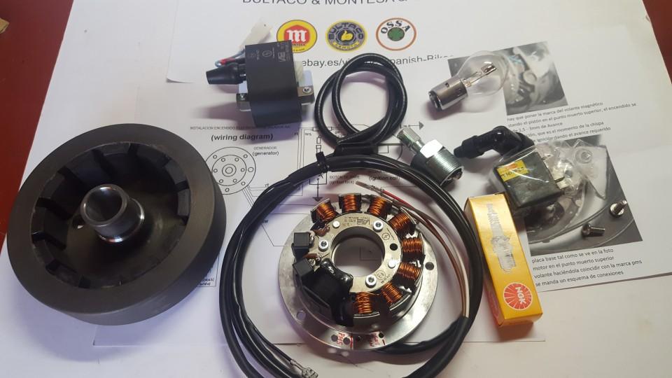 bultaco alpina electronic ignition 12v kit parts new images