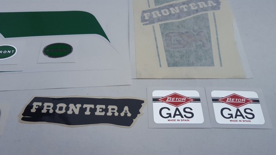 BULTACO FRONTERA GOLD MEDAL FULL KIT DECALS NEW BULTACO FRONTERA 493 DECALS  KIT PARTS BULTACO FRONTERA GOLD MEDAL BULTACO FRONTERA 370 GOLD MEDAL
