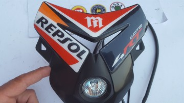 MONTESA COTA 4RT HEADLIGHT SPECIAL PART REPSOL NEW MONTESA 4RT HEADLIGHT MONTESA 300RR HEADLIGHT imágenes