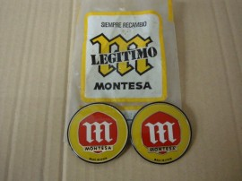 MONTESA LOGO EMBLEM GAS TANK NEW 2 UNITS imágenes