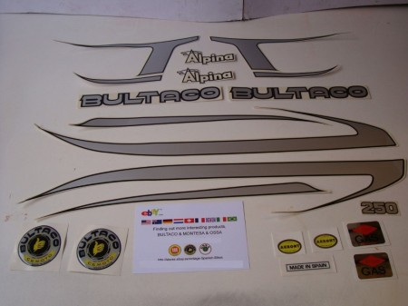 BULTACO ALPINA 187 SET DECALS FULL BIKE BULTACO ALPINA DECALS KIT imágenes