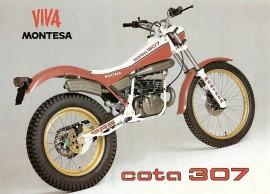 MONTESA COTA 307 SET FENDERS FRONT AND REAR MUDDGUARDS COTA 307 imágenes