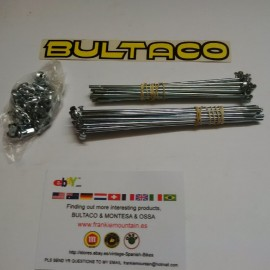 BULTACO SHERPA SPOKES AND NIPLES KIT NEW imágenes