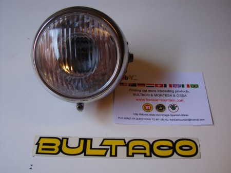 BULTACO ALPINA HEADLIGHT NEW FRONT LIGHT BULTACO ALPINA NEW HEADLIGHT BULTACO ALPINA imágenes