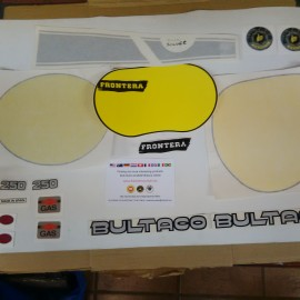BULTACO FRONTERA 250cc MK10 MODEL 180 KIT DECALS FULL BIKE imágenes