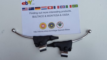 BULTACO LEVERS CLUTHC AND BRAKE + DUST COVERS NEW BULTACO LEVERS + DUST COVERSCAP BULTACO LEVERS imágenes