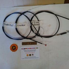 BULTACO LOBITO KIT CABLES CLUTCH, BRAKE, THORTTLE NEW imágenes