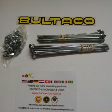 BULTACO MERCURIO 175 GT SPOKES AND NUTS KIT 2 WHEELS BULTACO METRALLA GT SPOKES KIT NEW imágenes