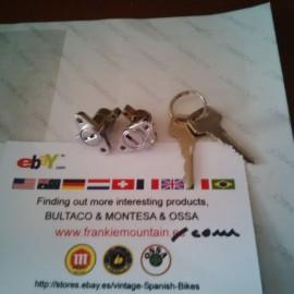 BULTACO SET TOOL BOX LOOCK TWO  WITH SAME KEY imágenes