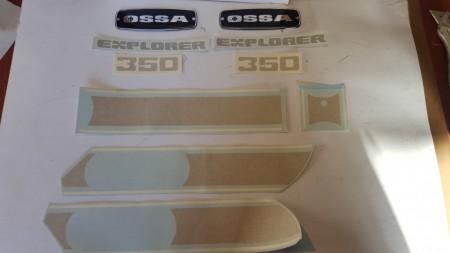 NEW OSSA EXPLORER KIT DECALS OSSA EXPLORER 350cc DECALS FULL BIKE imágenes