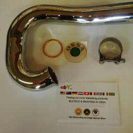OSSA MICK ANDREWS EXHAUST PIPE CHROME NEW OSSA MAR EXHAUST 350cc imágenes