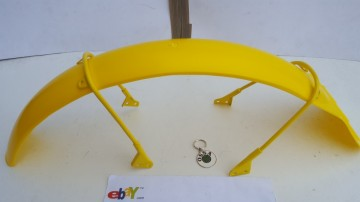 OSSA TR80 FRONT FENDER + SUPPORTS NEW OSSA TR 80 FRONT FENDER+ BRACKETS OSSA YELLOW MUDGUARD imágenes