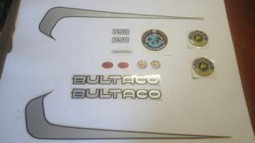 BULTACO SHERPA T DECALS KIT FULL BIKE MODEL SHERPA T BULTACO DECALS KIT imágenes